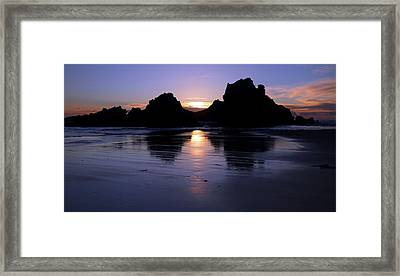 Big Sur Sunset Framed Print by Pierre Leclerc Photography