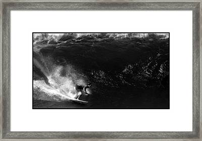 Big Wave Surfing Framed Print by Brad Scott