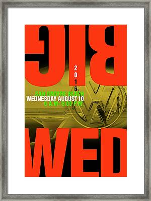Big Wednesday 2016 Framed Print by Ron Regalado