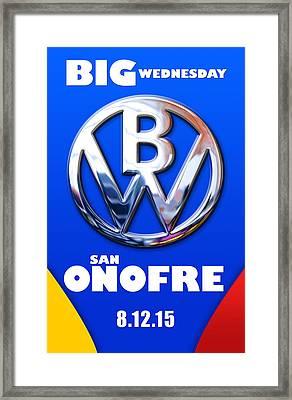 Big Wednesday Framed Print by Ron Regalado