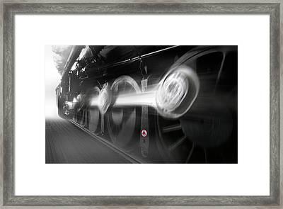 Big Wheels In Motion Framed Print by Mike McGlothlen