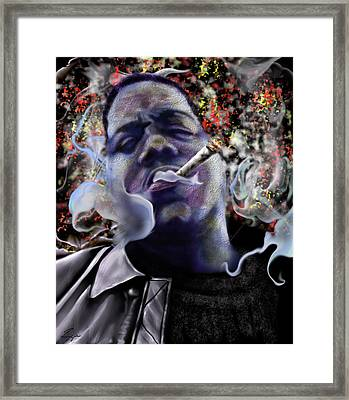 Biggie - Burning Lights 5 Framed Print by Reggie Duffie