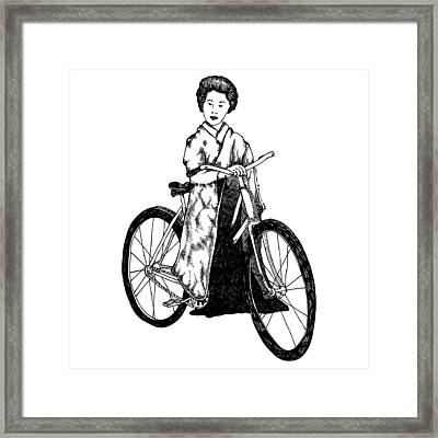 Bike Geisha Framed Print by Karl Addison