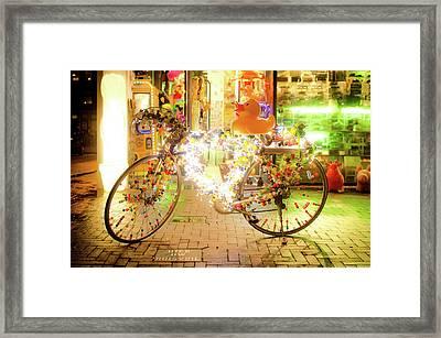 Bike Lights Framed Print by Michael Weber