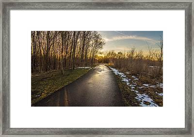 Bike Path  Framed Print by Amel Dizdarevic