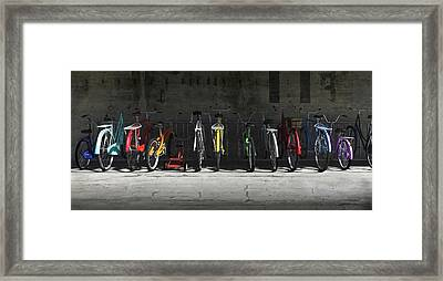 Bike Rack Framed Print by Cynthia Decker