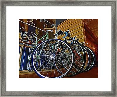 Bike Rack Framed Print by Dayton Preston