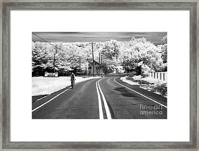 Bike Ride Infrared Framed Print by John Rizzuto