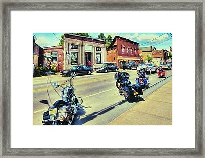 Bikes And Brews - Postcard Framed Print by David Patterson