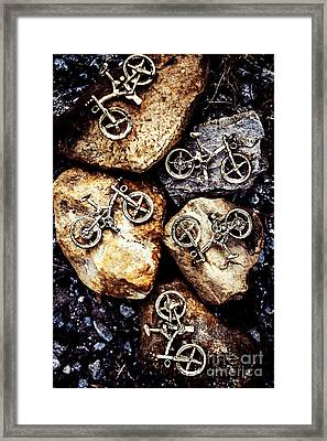 Biking Trail Scene Framed Print by Jorgo Photography - Wall Art Gallery