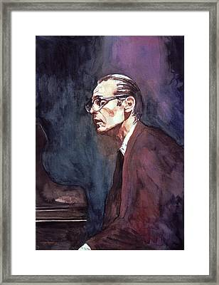 Bill Evans - Blue Symphony Framed Print by David Lloyd Glover