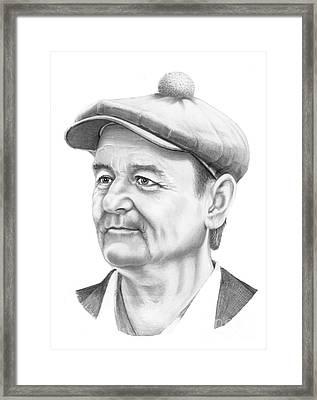 Bill Murray Framed Print by Murphy Elliott