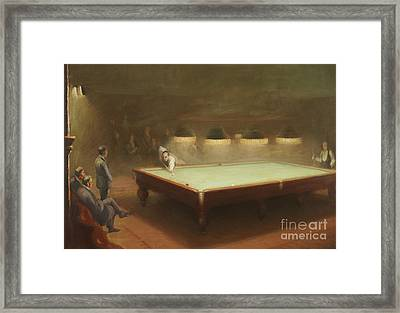 Billiard Match At Thurston Framed Print by English School