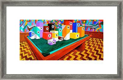 Billiard Table Framed Print by Cyril Maza