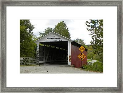 Billie Creek Bridge Framed Print by Robert Turner