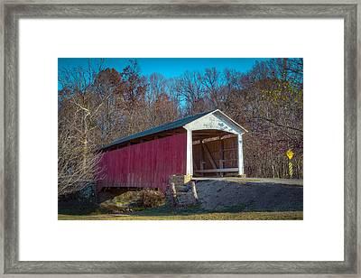 Billie Creek Covered Bridge - 16 Framed Print by Jack R Perry