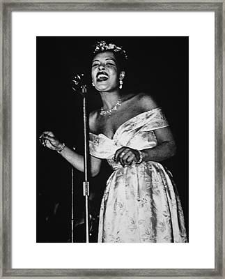 Billie Holiday Framed Print by American School