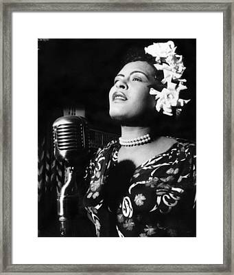 Billie Holiday Framed Print by Everett