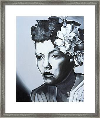 Billie Holiday Framed Print by Kaaria Mucherera