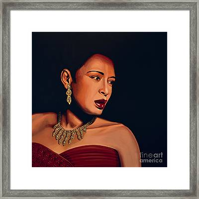 Billie Holiday Framed Print by Paul Meijering