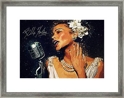 Billie Holiday Framed Print by Taylan Soyturk