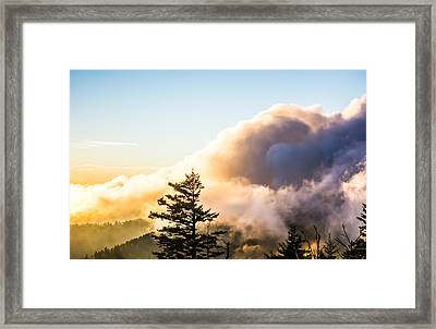 Billowing Over Framed Print by Shelby Young