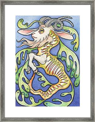 Billy Dragon Framed Print by Amy S Turner