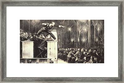 Billy Sunday Framed Print by George Wesley Bellows