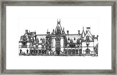 Biltmore House In Asheville  Framed Print by Adendorff Design