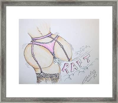 Bimbo Fart Framed Print by Paul Chestnutt