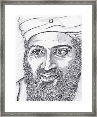 Bin Laden Framed Print by Richard Heyman