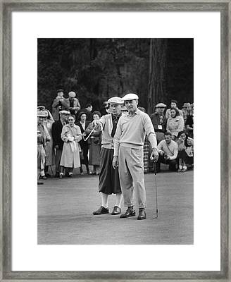Bing Crosby And Ben Hogan Framed Print by Underwood Archives