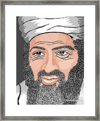 Binladen Framed Print by Richard Heyman