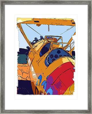 Biplane Framed Print by Diane E Berry