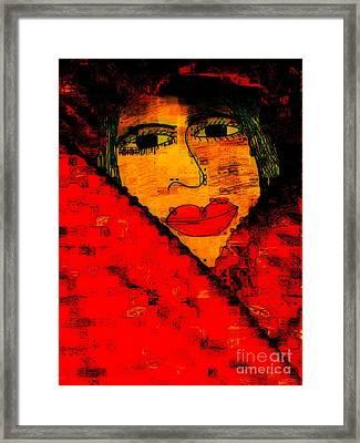 Bipolar And A Friend I Love Framed Print by Fania Simon