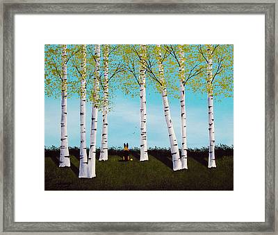 Birch Forest Framed Print by Todd Young