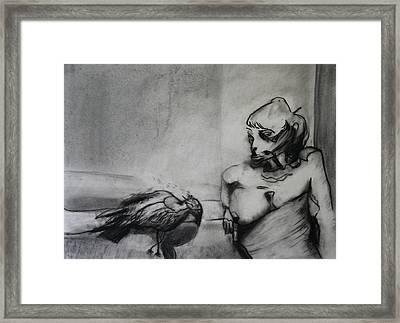 Bird Drama Framed Print by Brad Wilson