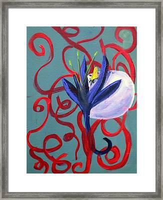 Bird Escape Framed Print by Rebecca Merola