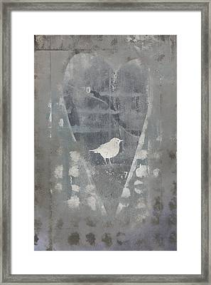 Bird In Heart Framed Print by Carol Leigh