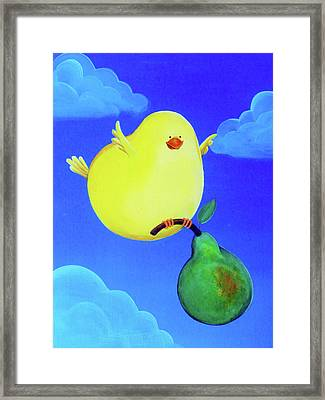 Bird In The Air Framed Print by Lael Borduin