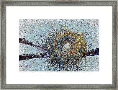 Bird Nest Painting Framed Print by Michael Glass