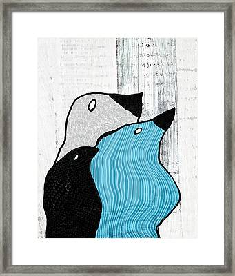 Birdies - 33tx Framed Print by Variance Collections
