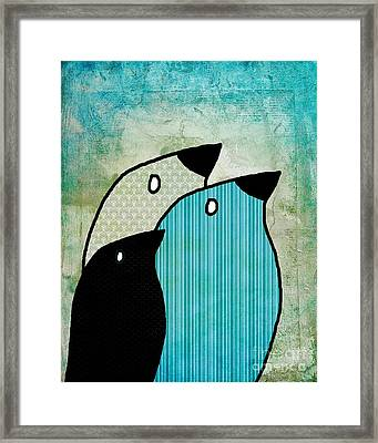 Birdies - 6904a Framed Print by Variance Collections