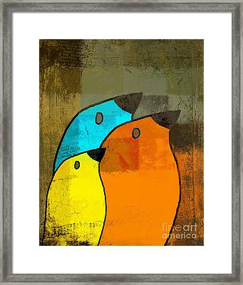 Birdies - C02tj1265c2 Framed Print by Variance Collections