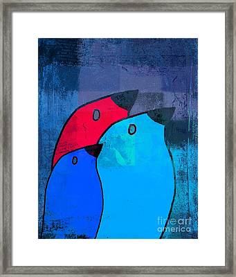 Birdies - C2t1j126-v5c33 Framed Print by Variance Collections