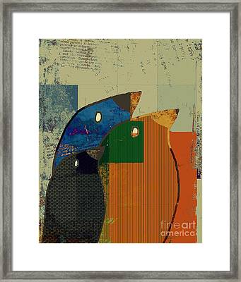 Birdies - C412-j128121170 Framed Print by Variance Collections