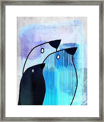 Birdies - Sp6905bj122b Framed Print by Variance Collections