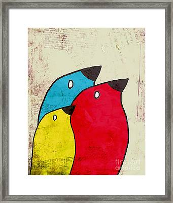 Birdies - V01s1t Framed Print by Variance Collections