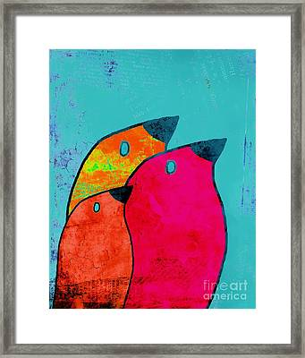 Birdies - V03a Framed Print by Variance Collections