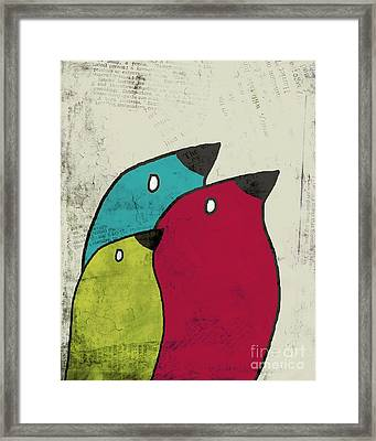 Birdies - V101s1t Framed Print by Variance Collections